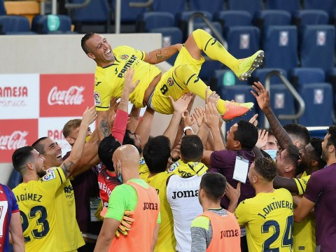 Ex-Arsenal midfielder Santi Cazorla given a guard of honour in final Villarreal game