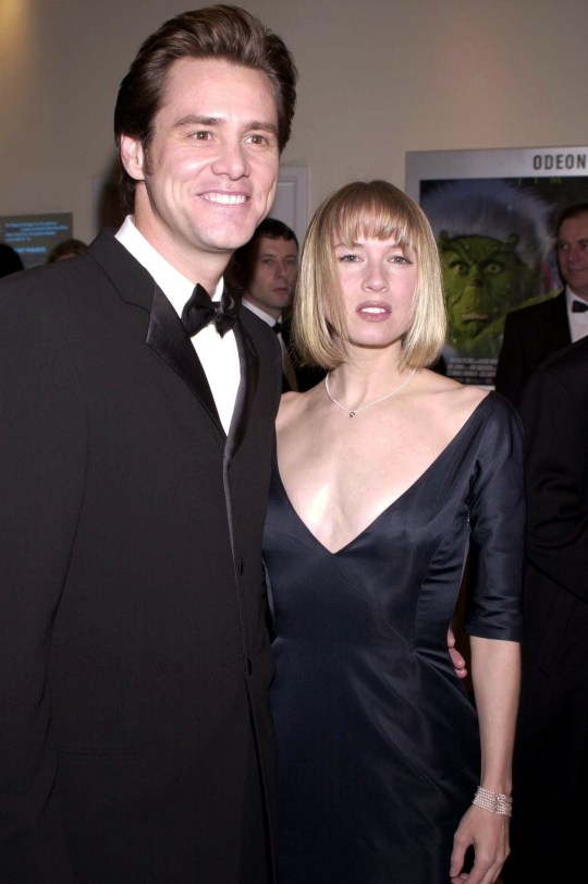 Mandatory Credit: Photo by Richard Young/REX (328836b) JIM CARREY AND RENEE ZELLWEGER THE ROYAL PREMIERE OF THE GRINCH, LONDON, BRITAIN - 2000
