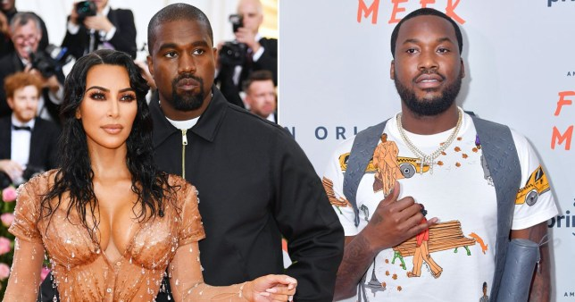 Kanye West claims he has been trying to divorce Kim since she met with Meek Mill Pics: Getty
