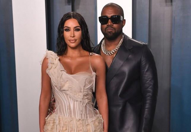 Mandatory Credit: Photo by Anthony Harvey/REX (10548152vm) Kim Kardashian West and Kanye West Vanity Fair Oscar Party, Arrivals, Los Angeles, USA - 09 Feb 2020