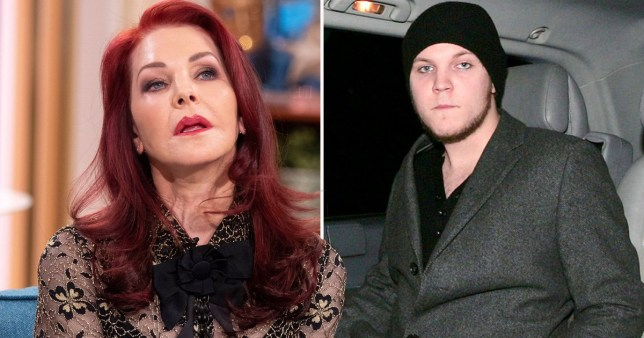Priscilla Presley pictured separately alongside grandson Benjamin Keough