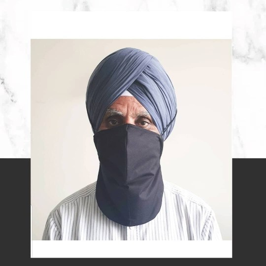 Sikh man wearing face mask