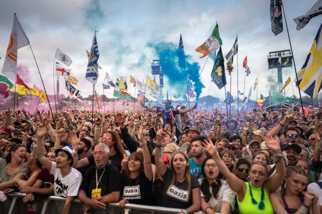 A nostalgic look back at the largest UK festivals of 2019 GLASTONBURY, ENGLAND - JUNE 29: Fans watch Liam Gallagher during day four of Glastonbury Festival at Worthy Farm, Pilton on June 29, 2019 in Glastonbury, England. (Photo by Ki Price/Getty Images)