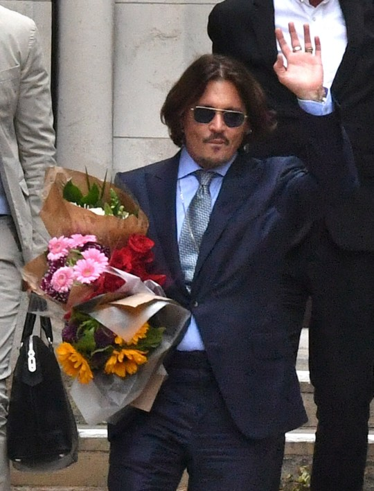 Actor Johnny Depp leaving the High Court in London following a hearing in his libel case against the publishers of The Sun