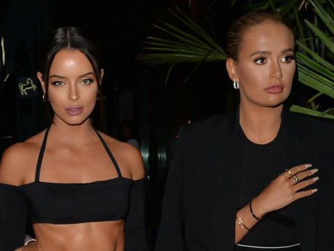 Love Island stars Maura Higgins and Molly-Mae Hague reunite for boozy night on the town