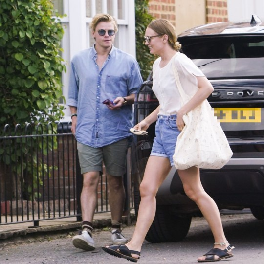 'White Lines' Laura Haddock And Tom Rhys Harries seen arriving together to view a house in Oxfordshire after dating rumours