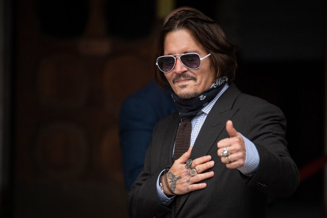 Embargoed to 0001 Monday July 27 File photo dated 15/07/20 of actor Johnny Depp arriving at the High Court in London to give evidence in his libel case against the publishers of The Sun and its executive editor, Dan Wootton. PA Photo. Issue date: Monday July 27, 2020. See PA story COURTS Depp. Photo credit should read: Dominic Lipinski/PA Wire