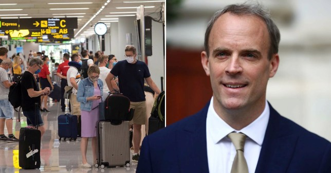 Other countries could be removed from government 'safe list', Dominic Raab warns