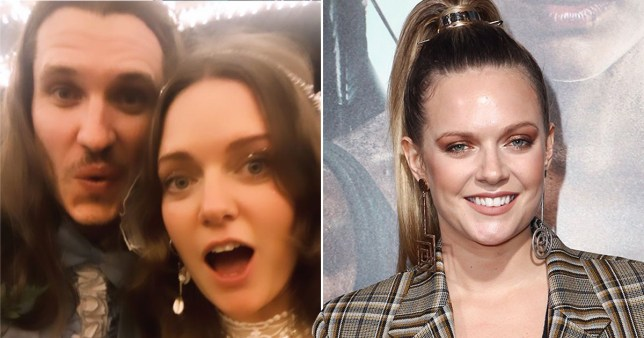 Tove Lo pictured with boyfriend Charlie Twaddle