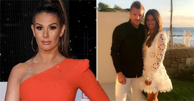 Rebekah Vardy pictured at National Television Awards and with husband Jamie Vardy on holiday