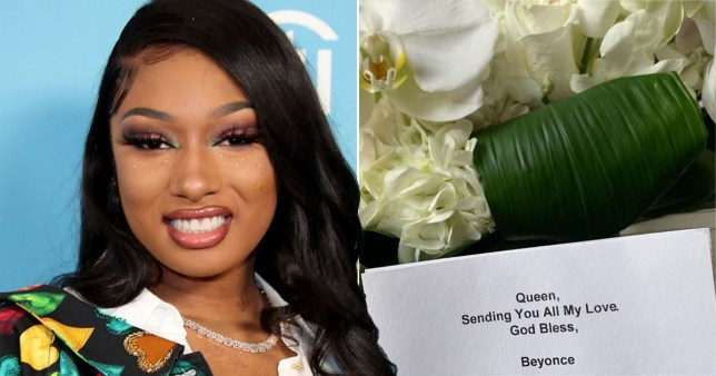 Megan Thee Stallion reveals the gifts she's received from Lizzo and Beyonce after being shot in both feet