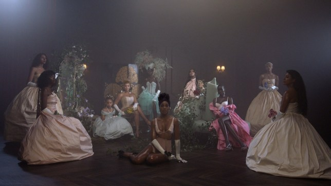 Beyonce, Blue Ivy Carter and Kelly Rowland in Brown Skin Girl from the visual album BLACK IS KING, on Disney+