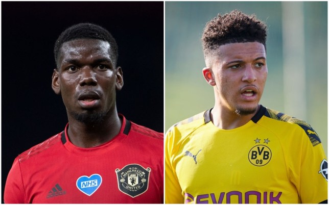 Paul Pogba is keen for Manchester United to recruit Jadon Sancho this summer