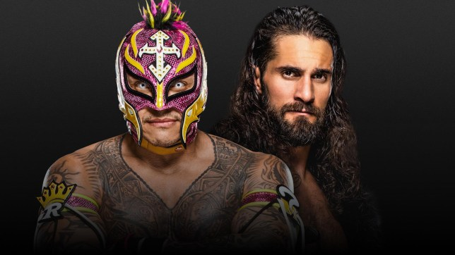 WWE: Horror Show at Extreme Rules match poster for Rey Mysterio and Seth Rollins