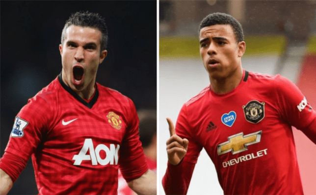Mason Greenwood has been compared to Manchester United hero Robin van Persie