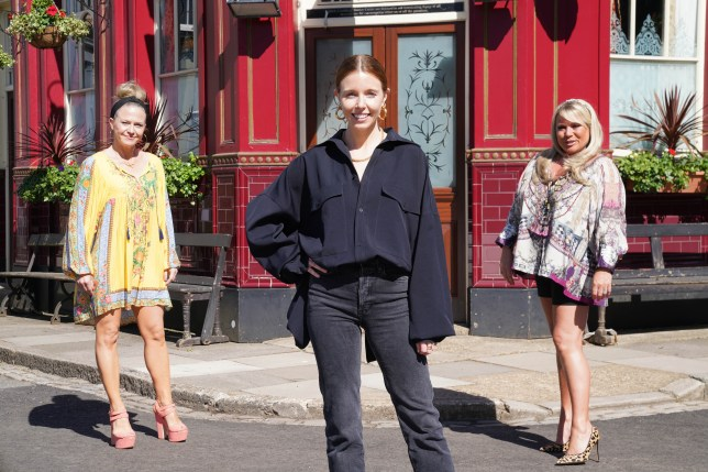 Letitia Dean, Kellie Bright and Stacey Dooley in EastEnders: Secrets From The Square