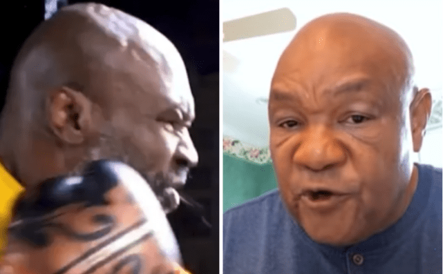George Foreman has spotted a weakness in Mike Tyson's punching technique