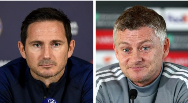 Chelsea manager Frank Lampard and Manchester United boss Ole Gunnar Solskjaer