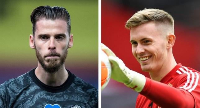 Manchester United goalkeeper David de Gea and loanee Dean Henderson