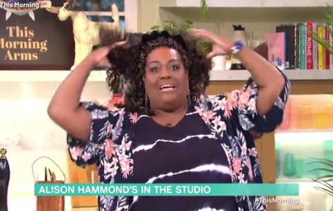Alison Hammond reunites with Holly Willoughby and Phillip Schofield as she returns to This Morning studio