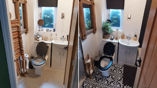 jodie berry's bathroom transformation, before and after