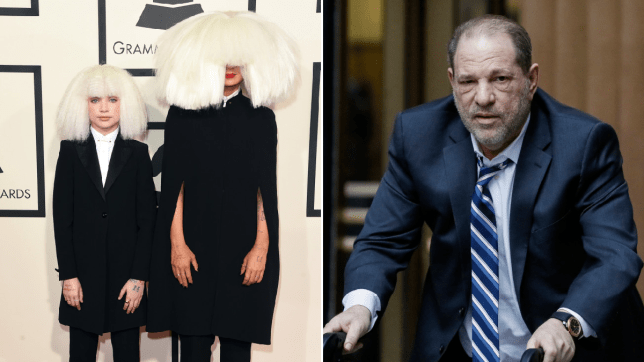Maddie Ziegler, Sia and Harvey Weinstein