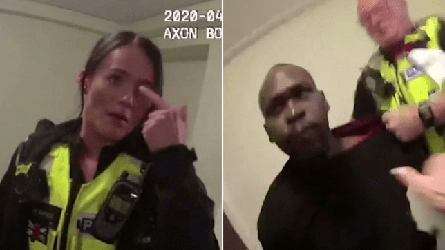 thug spits blood in police officer's eye