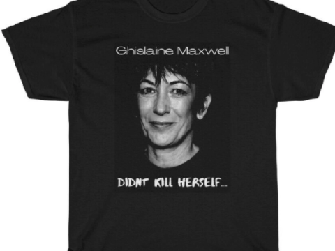 eBay set to ban bad-taste T-shirt and badge predicting the murder of Ghislaine Maxwell in jail