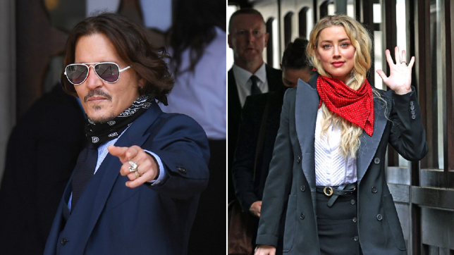 Johnny Depp and Amber Heard at court