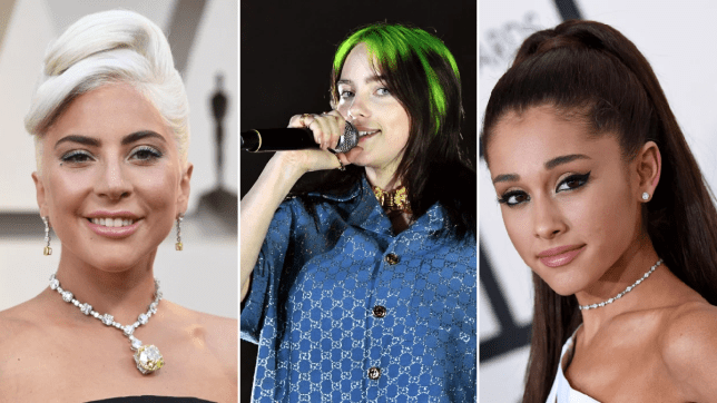 Lady Gaga, Billie Eilish, Ariana Grande