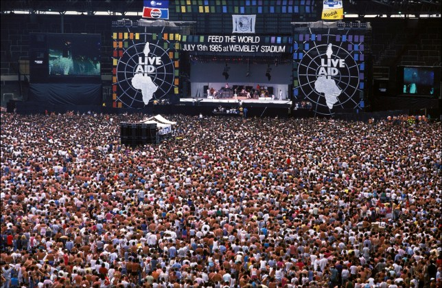 Live Aid concert at Wembley Stadium