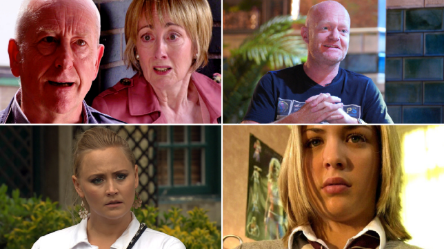 Geoff and Elaine in Coronation Street, Jake Wood in EastEnders: Secrets From The Square, Tracy Metcalfe in Emmerdale and Lisa Hunter in Hollyoaks