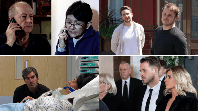 Geoff and Yasmeen in Coronation Street, Max Bowden and Tony Clay in EastEnders: Secrets From The Square, Cain and Moira in Emmerdale, Jack, Darren and Mandy in Hollyoaks