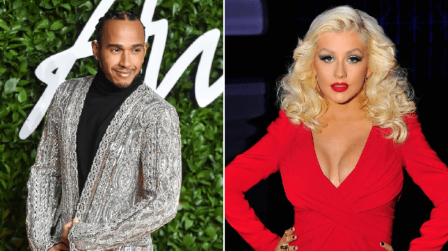 Lewis Hamilton and Christina Aguilera