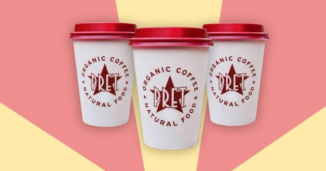 Pret coffees