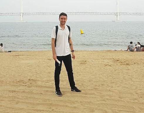 Harry on beach
