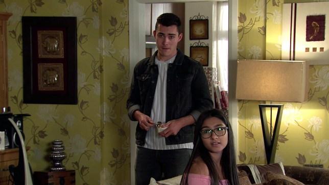 Asha and Corey in Coronation Street