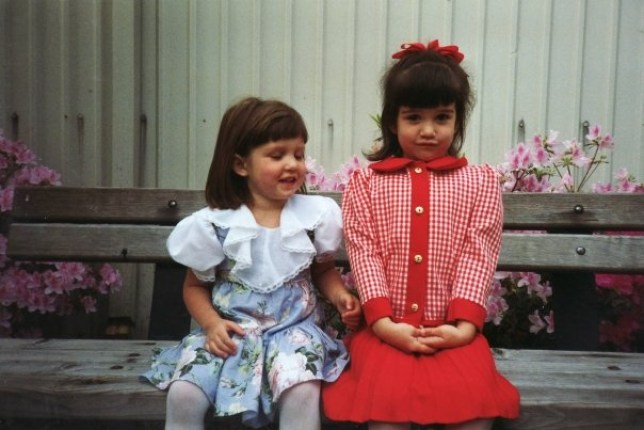 Lauren Crosby Medlicott and her sister, as kids