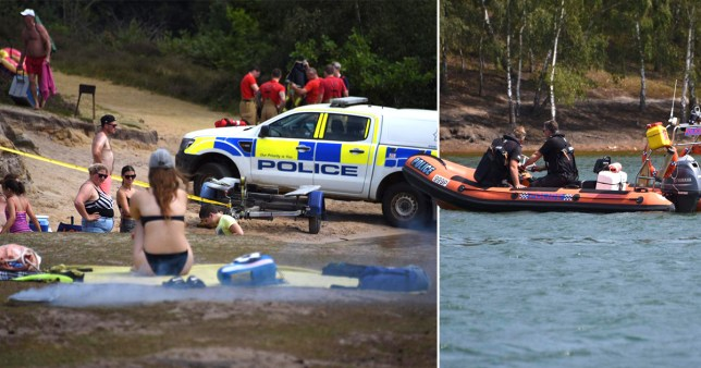A search taking place at Bawsey Pits, Norfolk, as a man is reportedly missing in the water