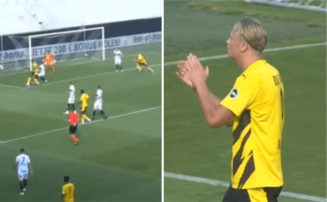 Erling Haaland applauds Jude Bellingham's stunning assist on first outing for Dortmund