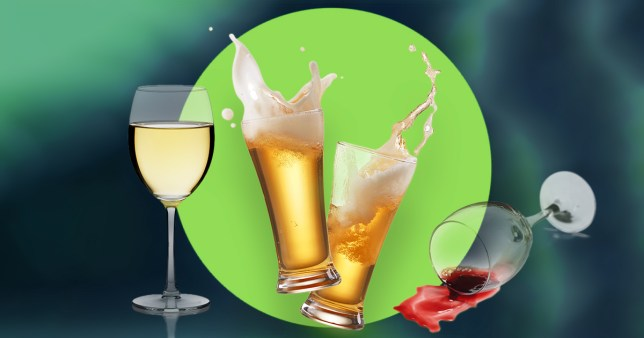 alcohol - wine and beer glasses