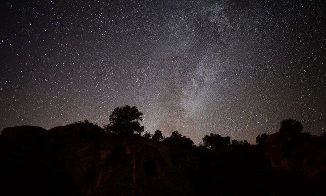 Perseid Meteor Shower in Turkey's Usak