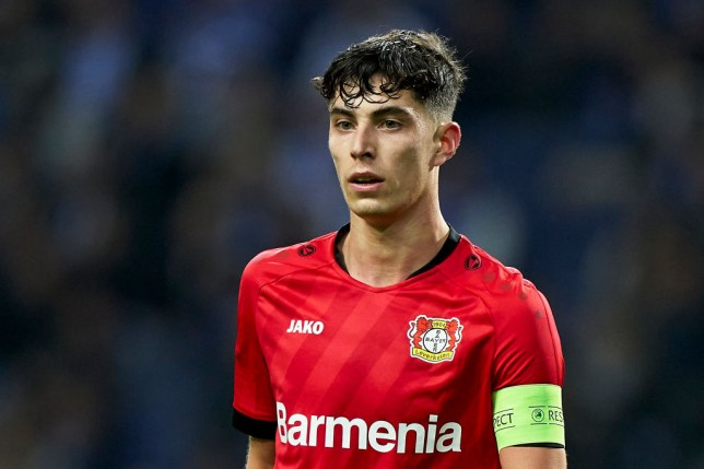 Kai Havertz of Bayer 04 Leverkusen looks on during the UEFA Europa League round of 32 second leg match between FC Porto and Bayer 04 Leverkusen at Estadio do Dragao on February 27, 2020 in Porto, Portugal.