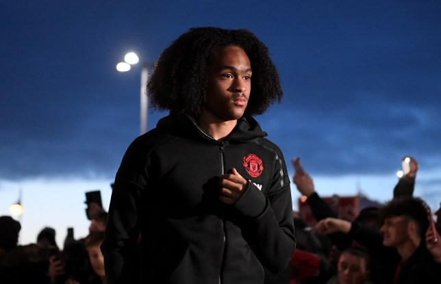 Tahith Chong looks on ahead of Manchester United's clash with Derby