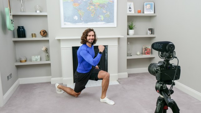 Joe Wicks working out.