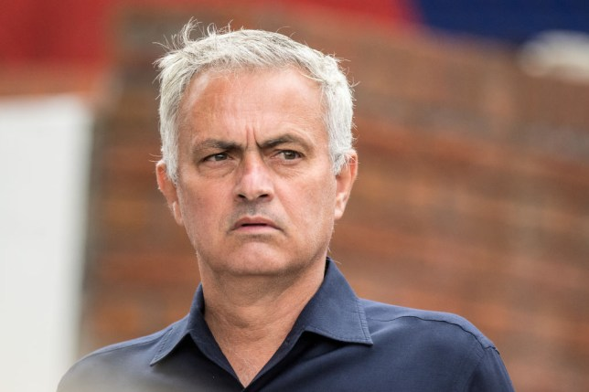 Tottenham boss Jose Mourinho looks on ahead of their Premier League clash with Crystal Palace