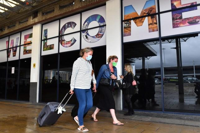 passagers à l'aéroport de manchester