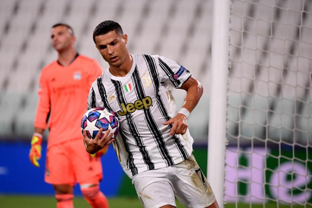 Cristiano Ronaldo scored twice against Lyon but Juventus still failed to qualify for the quarter finals