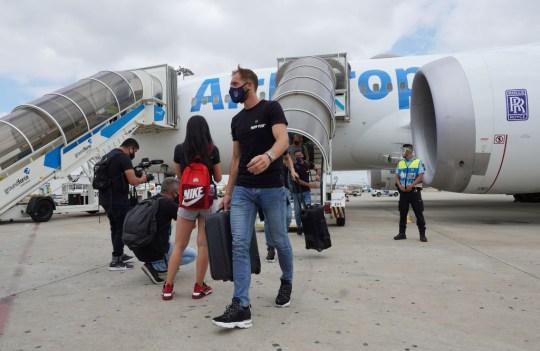 Jan Oblak Atletico Madrid Arrive in Lisbon for the Champions League