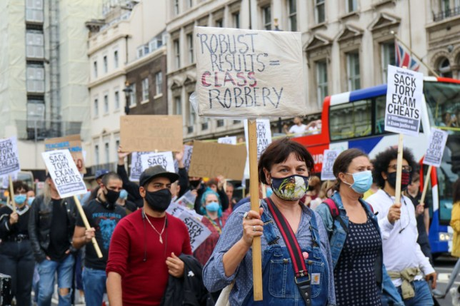 Level Students Protest Outside Downing Street